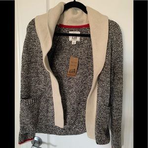 NWT Roots Cabin Shawl open Cardigan